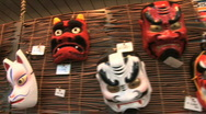 Stock Video Footage of Asakusa Temple 20 - Japanese Masks