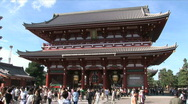 Stock Video Footage of Asakusa Temple 3 - Tokyo Japan