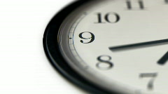 Clock Timelapse with Shallow Depth of Field - stock footage