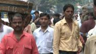 Stock Video Footage of Mumbai Crowded Street