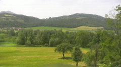 Austrian landscape tracking Stock Footage