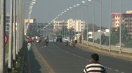 Crowded bridge at Daman Stock Footage