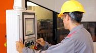 Automated Machine Operator Stock Footage