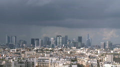 Paris - La Defense timelapse 1 Stock Footage