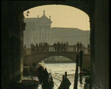 Venice Tourists on Bridge TBR Stock Footage