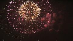 Celebration - Fireworks 2 Stock Footage