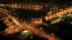 Paris crossroads timelapse night - stock footage