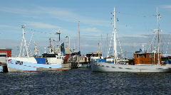 Fishingvessels  Stock Footage