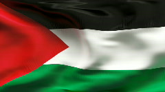 PALESTINA  Flag in wind in slow motion - stock footage