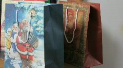 Pan gift bags to online shopping Stock Footage