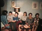 Stock Video Footage of Christmas Family Gathering (1958 Vintage 8mm)