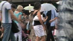 Crowds of people at Ginzas fashionable shopping district. Tokyo, Japan Stock Footage