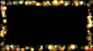 The frame of bokeh on a black background Stock Footage