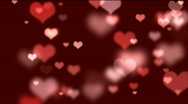 Stock Video Footage of Hearts bokeh