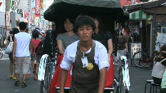 Asakusa Temple 4 - Tokyo Japan - The rickshaw or jinrikisha at Asakusa temple Stock Footage