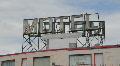 Motel sign. Footage