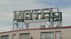Motel sign. Stock Footage