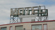 Stock Video Footage of Motel sign.