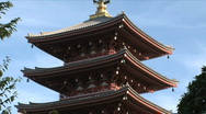 Stock Video Footage of Asakusa Temple 5 - Tokyo Japan