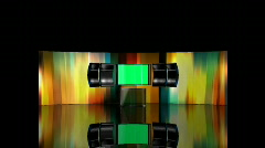 Brilliant Colored Stage with Green Screen Stock Footage