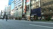 Ginza 7 - Tokyo, Japan Stock Footage