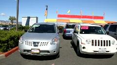 Auto Dealer Lot - stock footage