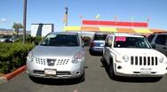 Auto Dealer Lot Stock Footage