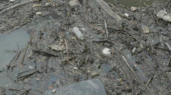 Garbage in the river. Stock Footage
