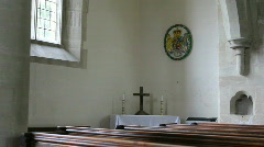 Church pan alter to alter Stock Footage