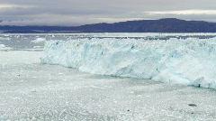 The Eqi glacier time lapse Stock Footage
