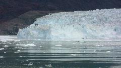 Calving glacier - stock footage