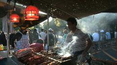 Japanese barbecue. Yoyogi Park, Tokyo, Japan Stock Footage