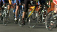 Bicycle race 04 HD Stock Footage