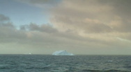 Stock Video Footage of iceberg alone sea