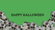 Lots of halloween skulls Stock Footage