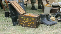 Tilt army equipment to Home Guard Stock Footage