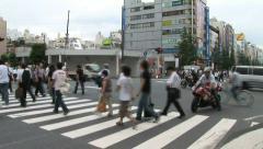 Akihabara 1 - Tokyo, Japan. People crossing. Stock Footage