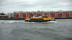 Yellow waterbus in Copenhagen Stock Footage
