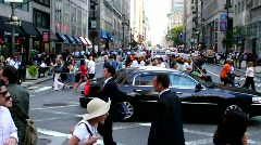 nyc intersection  - stock footage