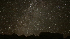 AstroPhotography Perseid Meteor Shower 1 Timelapse x240 Milky Way Stock Footage