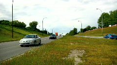 Traffic flowing both directions sound included Stock Footage