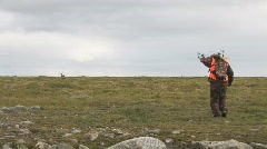 Caribou Hunting Hunter Stock Footage
