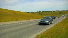 Traffic approaching camera head-on2 Stock Footage