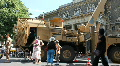 military vehicle on public display HD Footage