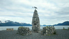 Seward historic marker coast P HD 8406 Stock Footage
