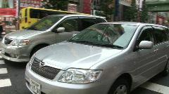 Akihabara 6 - Tokyo, Japan; POV traffic. Cars. Bike tour. Stock Footage