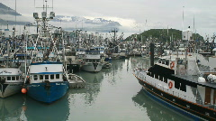 Valdez boat harbor P HD 7528 Stock Footage