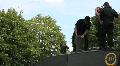 Royal Tank Regiment batten down hatches HD Footage