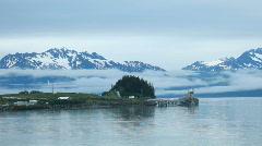 Valdez oil pipeline terminal P HD 8631 Stock Footage