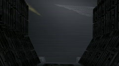 Sci fi tunnel 1 Stock Footage